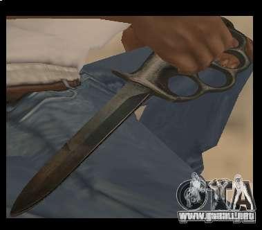 Cuchillo puño libre de cromo para GTA San Andreas