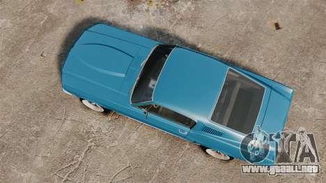 Ford Mustang Customs 1967 para GTA 4 visión correcta