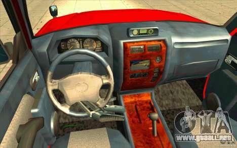 Toyota Land Cruiser Prado para GTA San Andreas vista hacia atrás