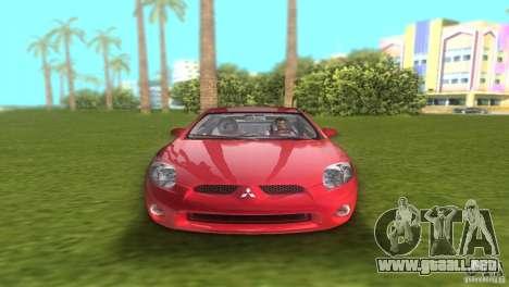 Mitsubishi Eclipse GT 2007 para GTA Vice City visión correcta