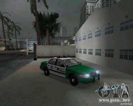 Ford Crown Victoria 2003 Police para GTA Vice City vista posterior