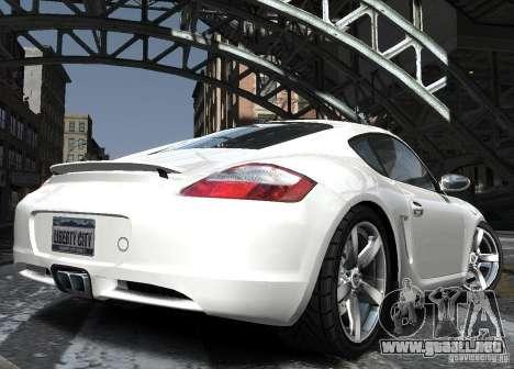 Porsche Cayman S1 para GTA 4 vista lateral