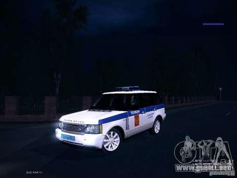 Range Rover Supercharged 2008 policía Departamen para visión interna GTA San Andreas