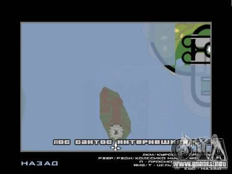 La estatua de la libertad para GTA San Andreas sucesivamente de pantalla