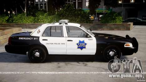 Ford Crown Victoria SFPD K9 Unit [ELS] para GTA 4 left