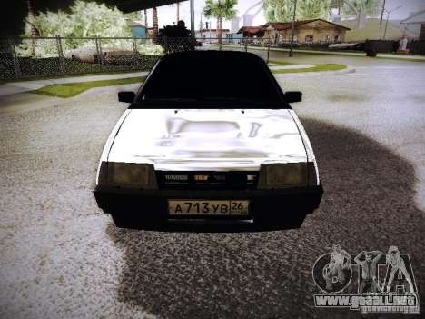 VAZ 2108 cromo para GTA San Andreas vista hacia atrás