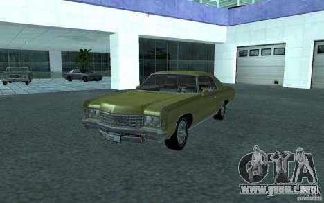 Chevrolet Impala 1971 para GTA San Andreas vista posterior izquierda