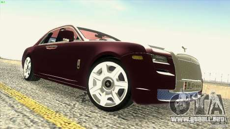 Rolls-Royce Ghost 2010 V1.0 para vista inferior GTA San Andreas