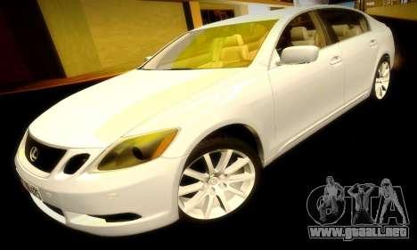 Lexus GS430 para la vista superior GTA San Andreas