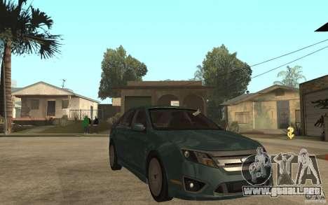 Ford Fusion 2010 para GTA San Andreas vista hacia atrás