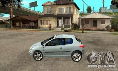 Peugeot 206 para GTA San Andreas left