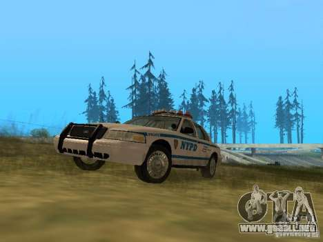 Ford Crown Victoria NYPD Police para GTA San Andreas left