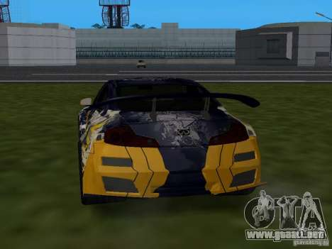 Infinity G35 Binsanity para GTA San Andreas left