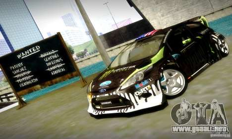 Ford Fiesta Gymkhana 4 para vista inferior GTA San Andreas