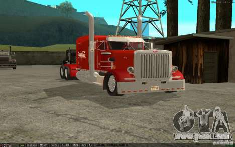 Peterbilt 379 Custom Coca Cola para GTA San Andreas left