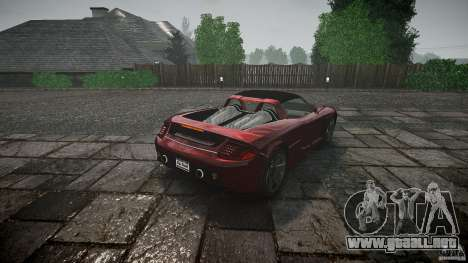 Porsche Carrera GT para GTA 4 Vista posterior izquierda
