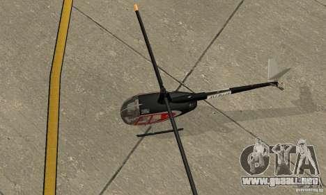 Robinson R44 Raven II NC 1.0 piel 2 para GTA San Andreas vista hacia atrás