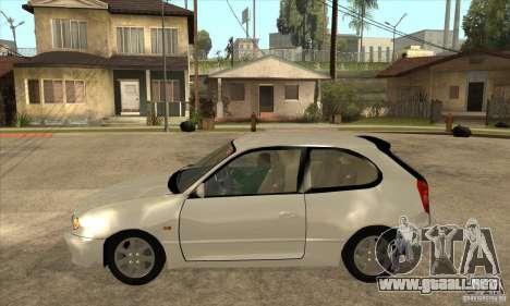 Toyota Corolla G6 Compact E110 JP para GTA San Andreas left