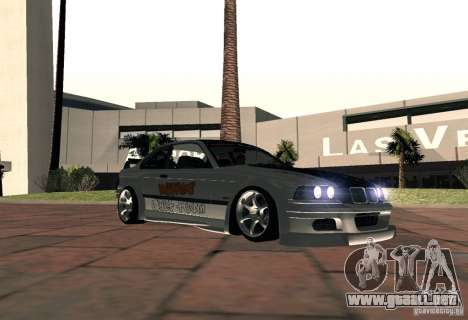 BMW M3 MyGame Drift Team para GTA San Andreas vista posterior izquierda
