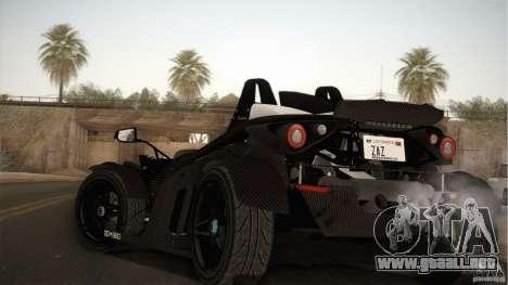 KTM-X-Bow para GTA San Andreas vista posterior izquierda