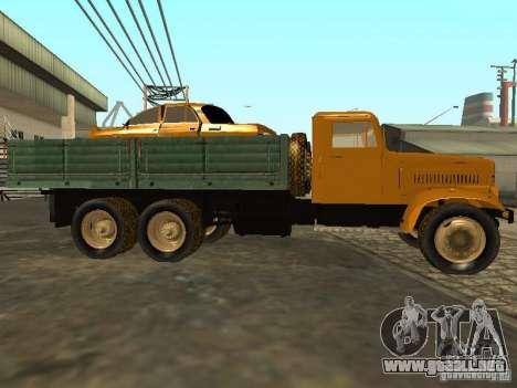 Remolque de camión KrAZ v. 2 para visión interna GTA San Andreas