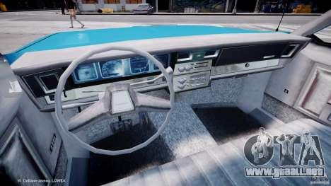 Chevrolet Impala Police 1983 v2.0 para GTA 4 vista hacia atrás