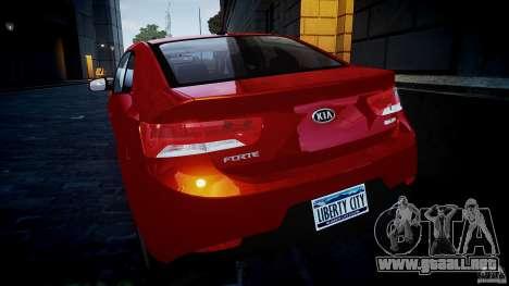 KIA Forte Koup para GTA 4 vista lateral