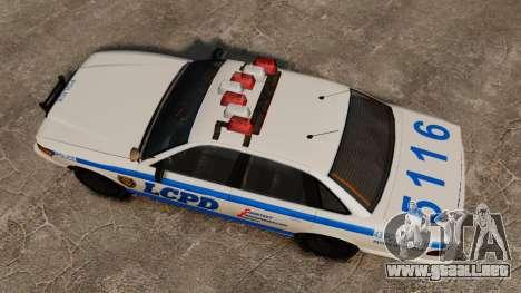 Un nuevo coche patrulla para GTA 4 visión correcta