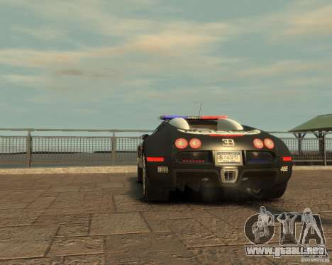 Bugatti Veyron Police [EPM] para GTA 4 vista hacia atrás