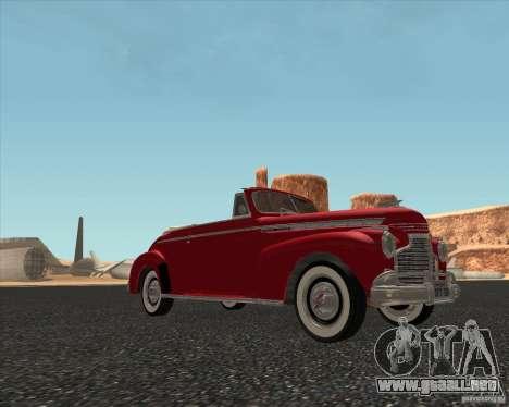 Chevrolet Special DeLuxe 1941 para GTA San Andreas vista posterior izquierda