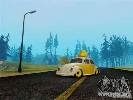 Volkswagen Beetle Edit para GTA San Andreas vista hacia atrás
