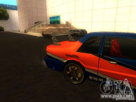 Previon FNF3 para GTA San Andreas vista posterior izquierda