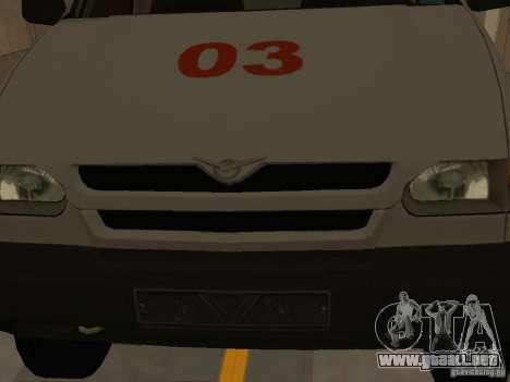 Ambulancia UAZ Simba SC para visión interna GTA San Andreas