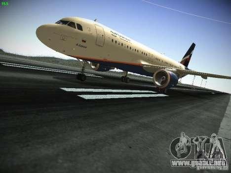 Aeroflot Russian Airlines Airbus A320 para GTA San Andreas