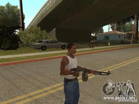Ametralladora ligera Dâgterëva para GTA San Andreas tercera pantalla