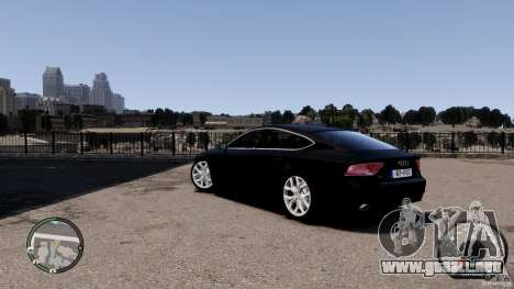 Audi A7 Sportback para GTA 4 Vista posterior izquierda