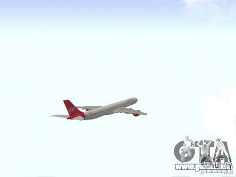 Airbus A340-600 Virgin Atlantic para visión interna GTA San Andreas
