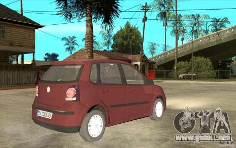 Volkswagen Polo 2006 para la visión correcta GTA San Andreas