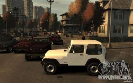 Jeep Wrangler 1986 para GTA 4 left