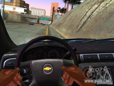 Chevrolet Tahoe 2008 Police Federal para visión interna GTA San Andreas