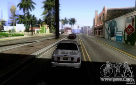 Bentley Arnage para GTA San Andreas vista hacia atrás