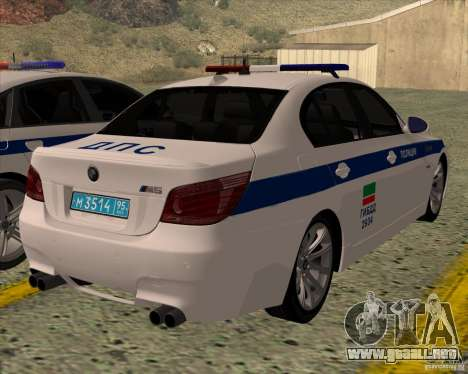 BMW M5 E60 DPS para GTA San Andreas left