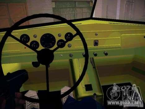 GAZ 51 Assinizator para visión interna GTA San Andreas