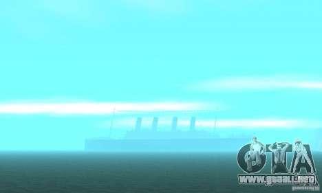 RMS Titanic para vista inferior GTA San Andreas