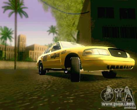 Ford Crown Victoria 2003 NYC TAXI para GTA San Andreas vista hacia atrás