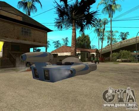 X34 Landspeeder para GTA San Andreas vista posterior izquierda
