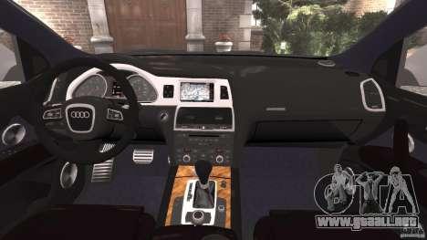Audi Q7 V12 TDI v1.1 para GTA 4 vista hacia atrás