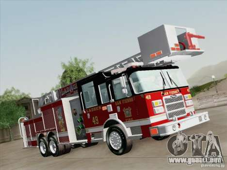 Pierce Rear Mount SFFD Ladder 49 para la visión correcta GTA San Andreas