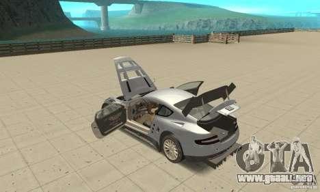 Aston Martin DBR9 (v1.0.0) para visión interna GTA San Andreas
