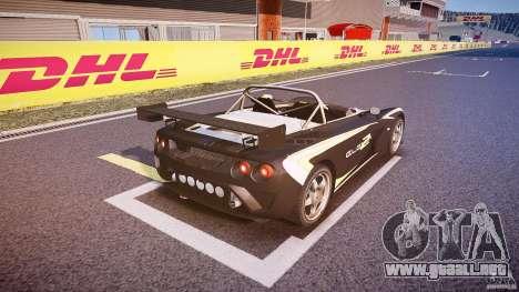 Lotus 2-11 para GTA 4 vista desde abajo